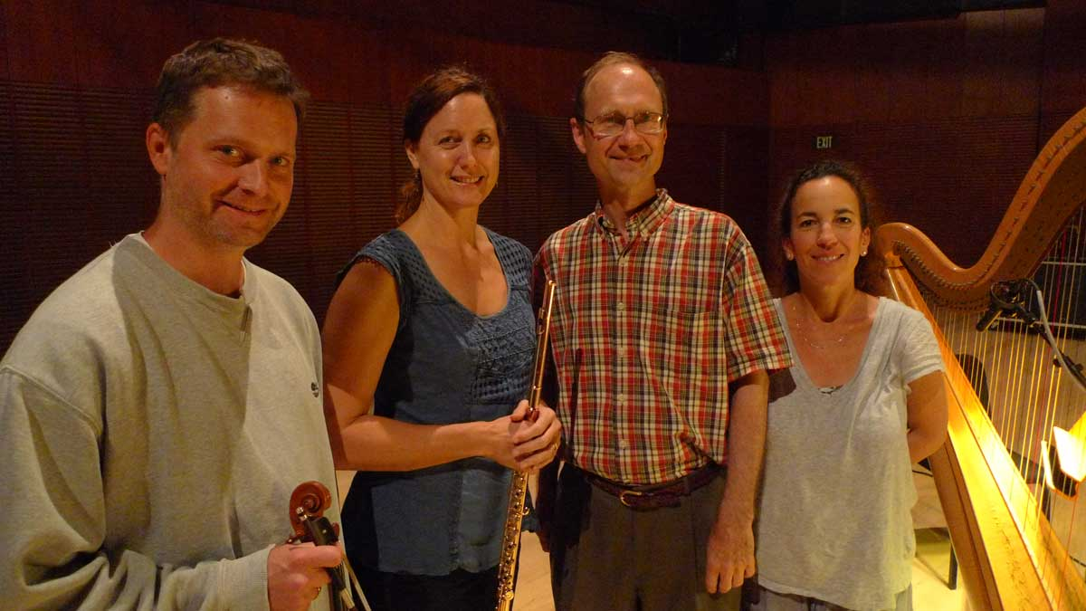 The Debussy Trio (David Walther, Angela Wiegand, Marcia Dickstein) with David Evan Thomas